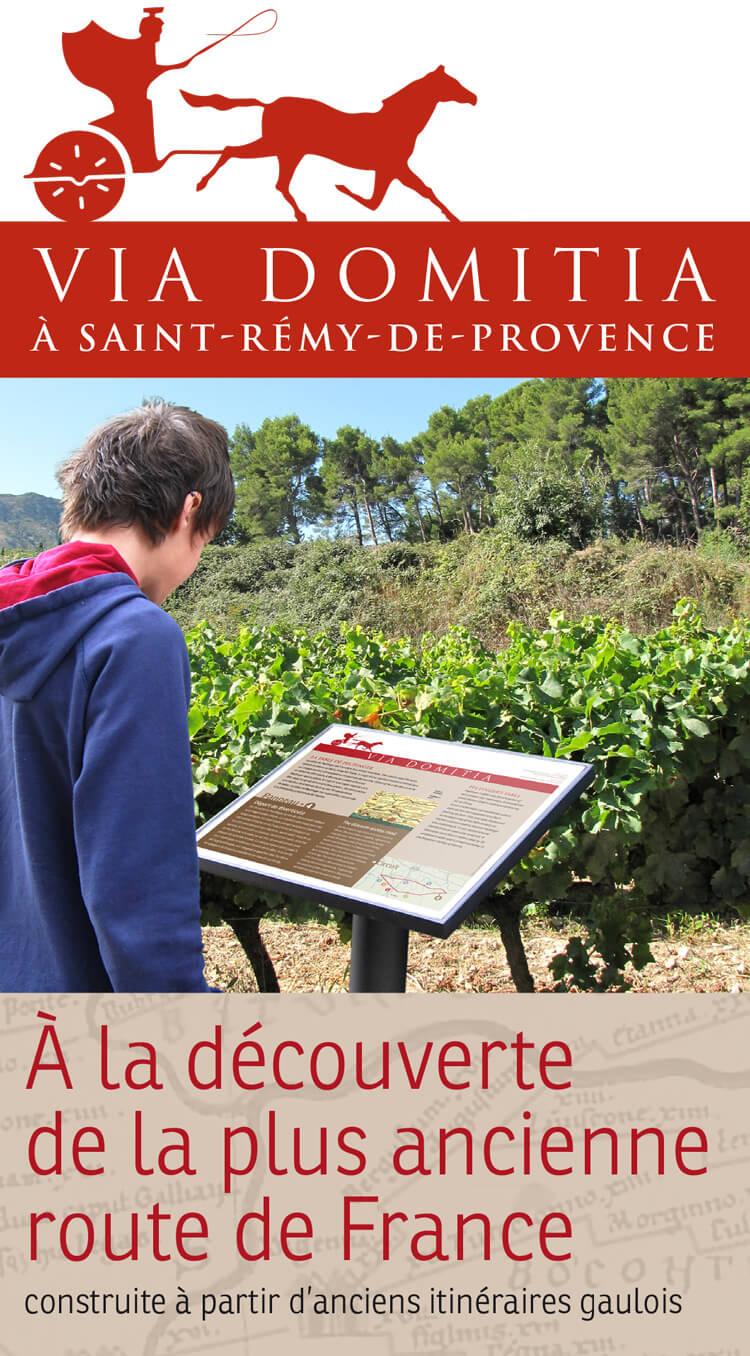ballade via domitia saint rémy de provence