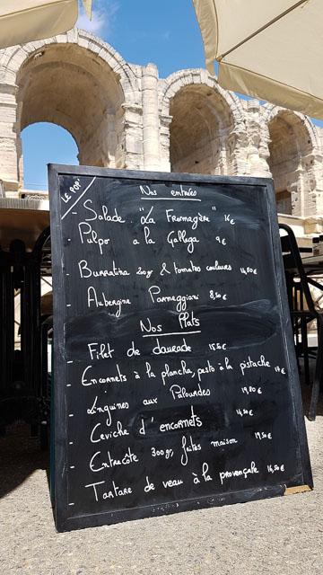 Restaurant coquillages aux Arène d'Arles - Le Bistrot Populaire