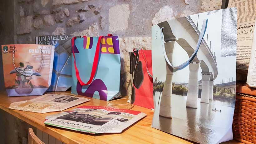 Sac BIS en papier recyclé par la créatrice arlésienne Karin Chiron