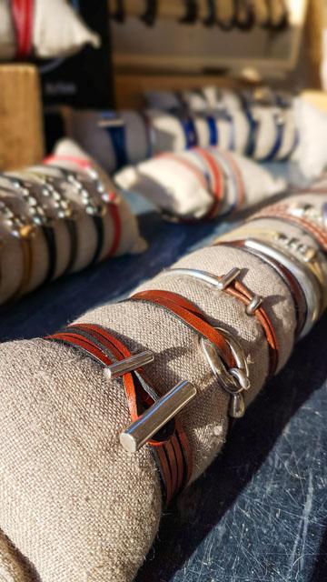 Bracelet cuir artisanal à Arles - Atelier Milsix
