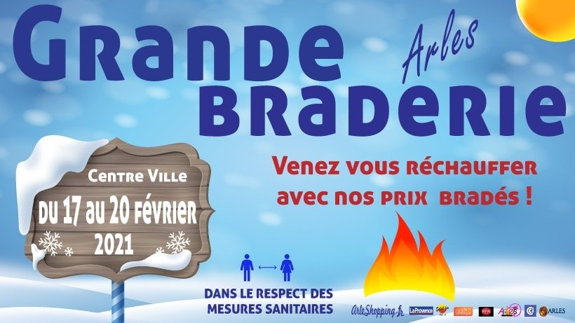 bRADERIE HIVER 2021 DES PETITS COMMERCANTS A ARLES