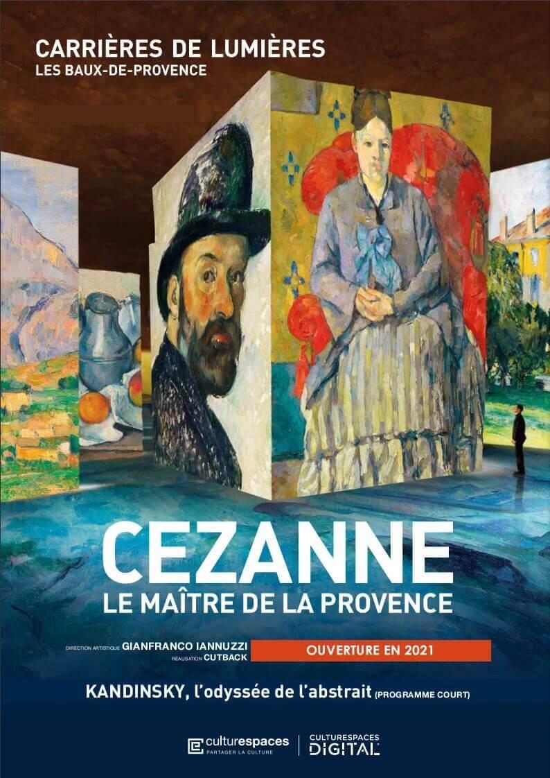 Exposition immersive Cezanne 2021 aux Carrières de Lumière des baux de Provence