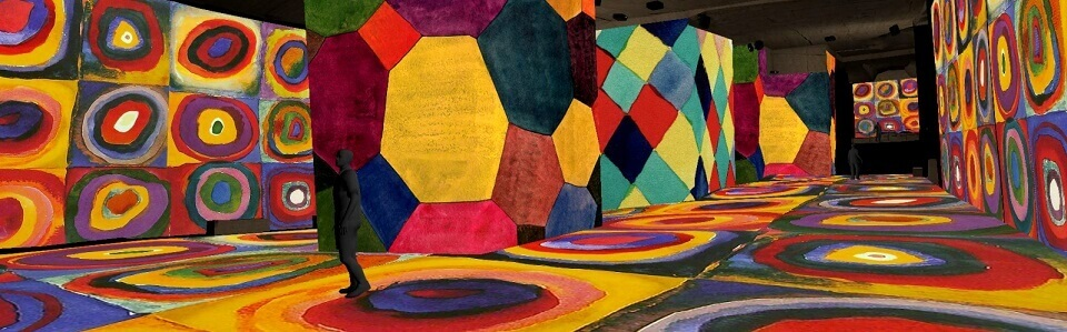 Exposition immersive Cezanne et Kandinsky 2021 aux Carrières de Lumières des Baux de Provence