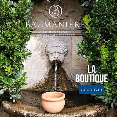 Boutique de créateurs de l'hôtel Baumanière aux Baux de Provence