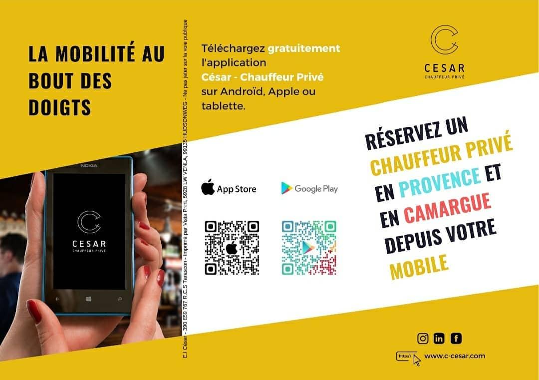 Application VTC et taxi à Arles - César Chauffeur Privé