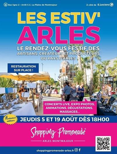 Evénement Les Estiv'Arles les 5 et 19 août 2021 à Shopping Promenade à Arles