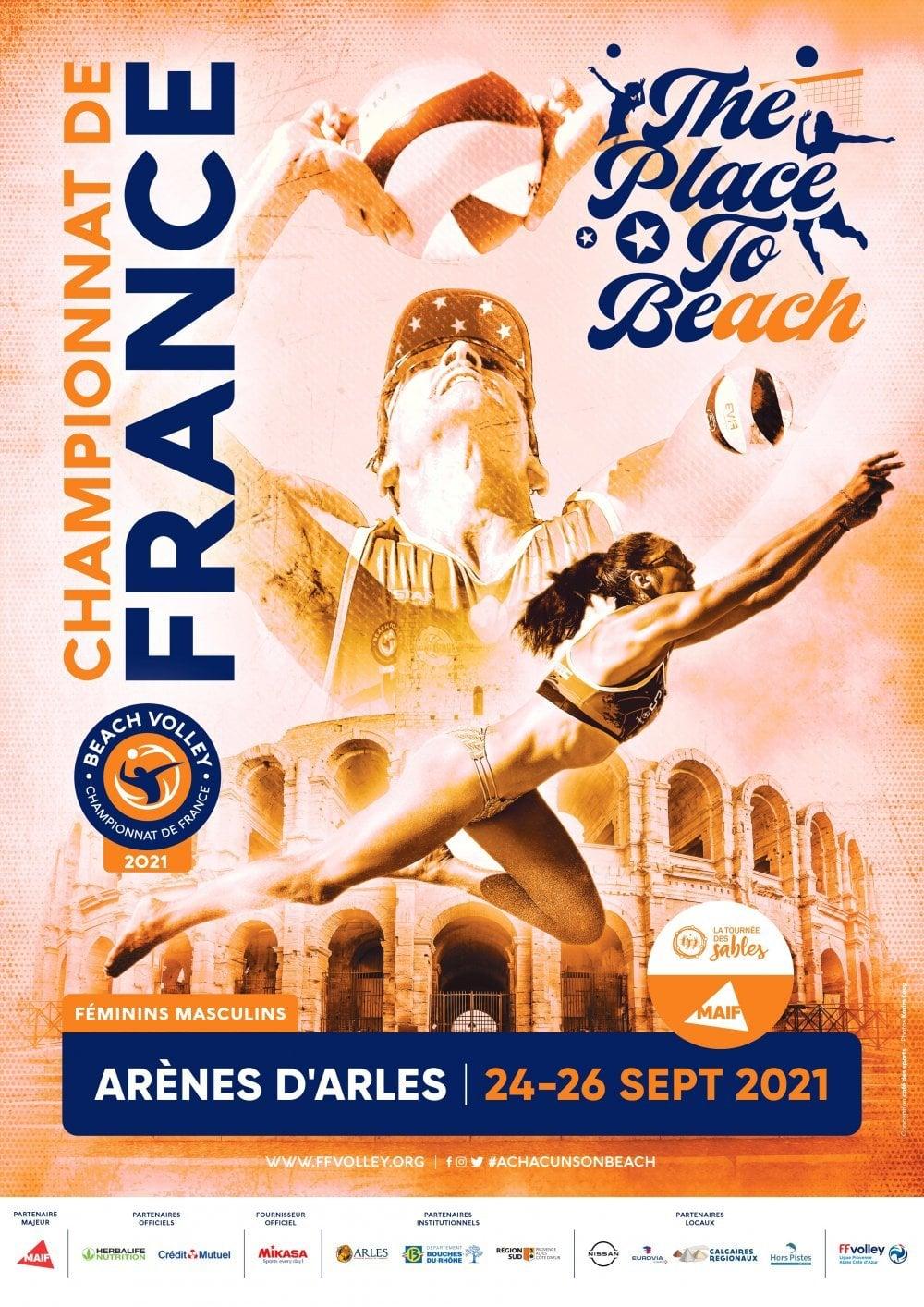 championnat france beach volley arles 2021
