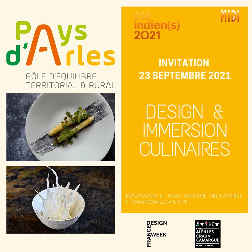Design et immersion culinaire par Rosa Pilpel en partenariat avec le PETR dans le cadre d'Eté Indiens 2021